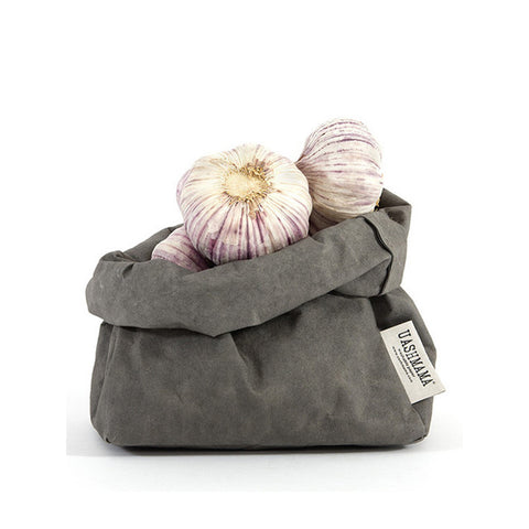 Uashmama Paper Bag Dark Grey