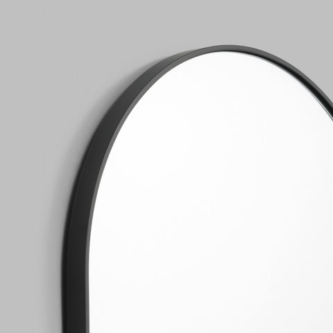 Bjorn Oval Mirror Black