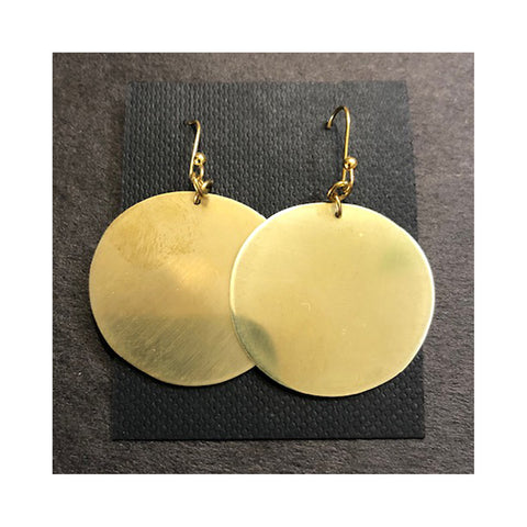 Brass Earrings By Elsa Jaggers