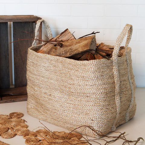 Dharma Door Jute Floor Basket Large - Natural
