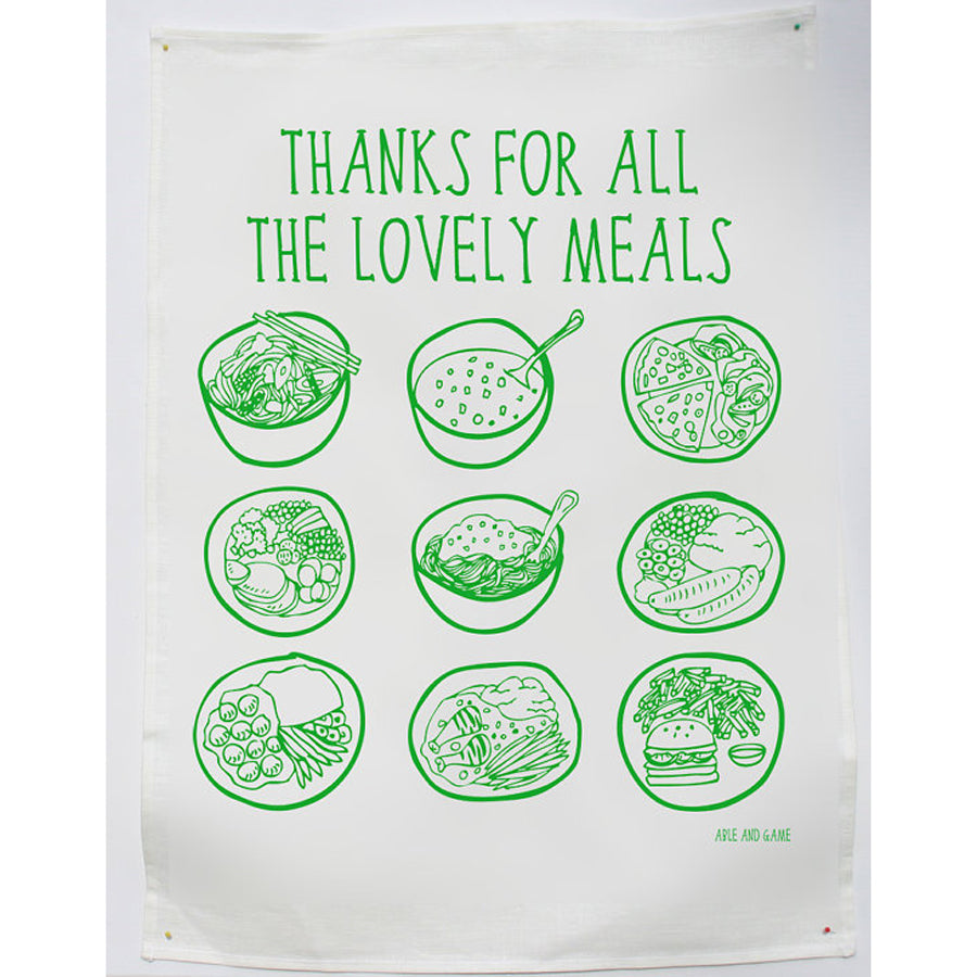 Lovely Meals Tea Towel
