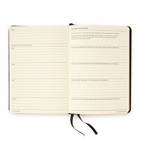 MiGoals Journal Soft Cover Black.