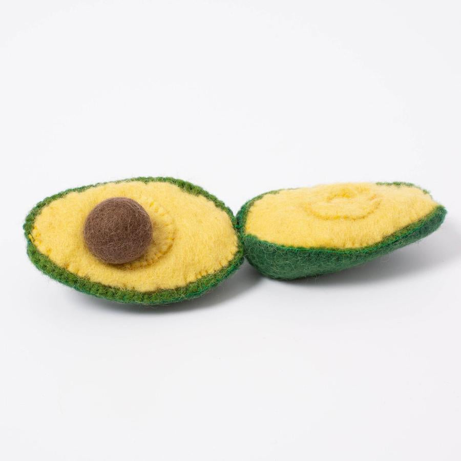 Papoose Toys Felt Fruit Avocado