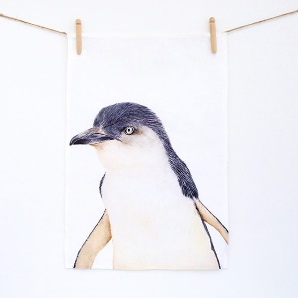 Peggy Penguin Tea Towel