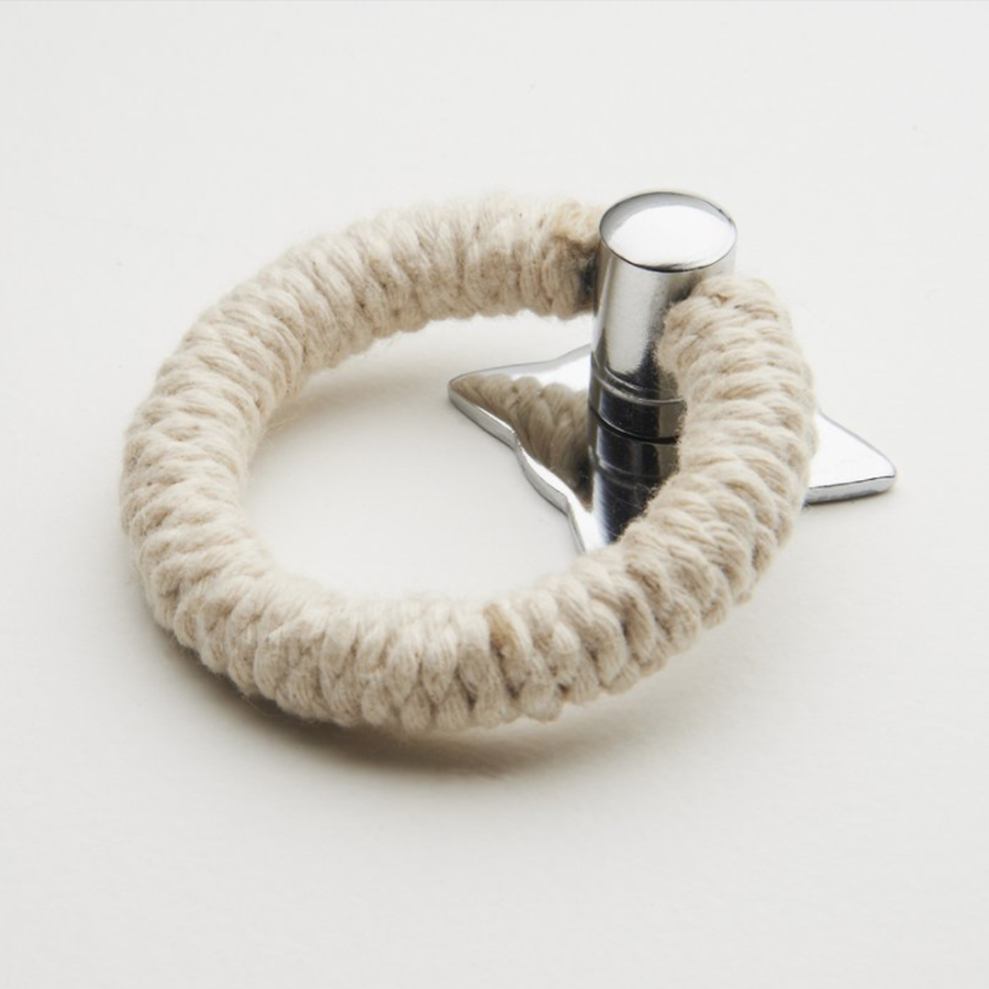 Rope Pull - Cotton with Polished Chrome