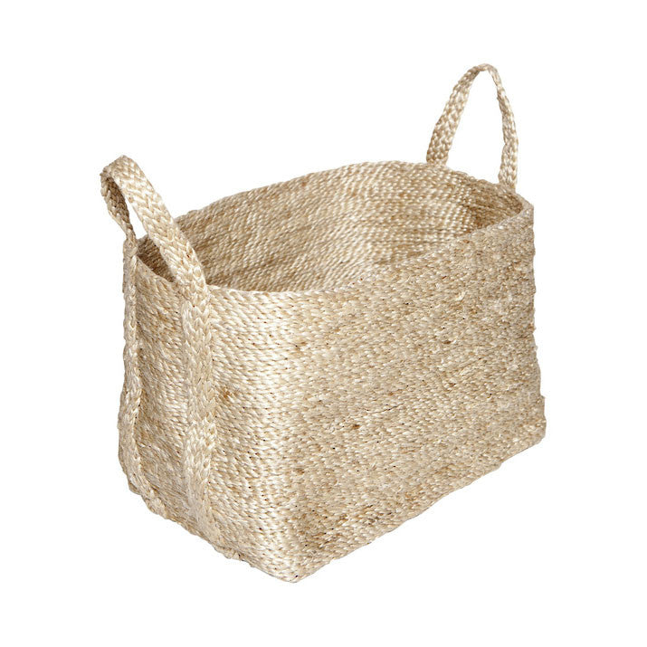 Dharma Door Small Jute Basket Natural