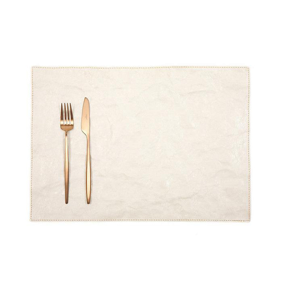 Uashmama Paper Luxe Placemat Cashmere