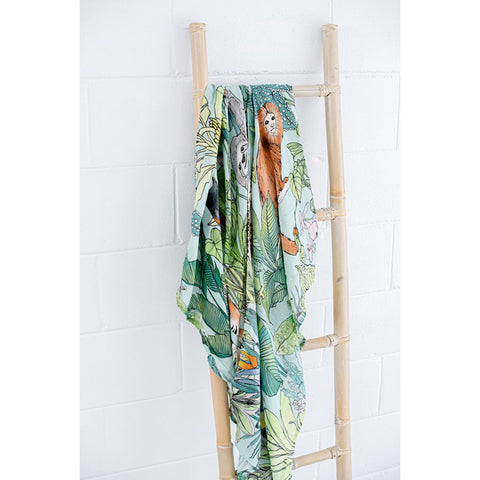 Victoria McGrane X Lluie Baby Muslin Swaddle Jungle