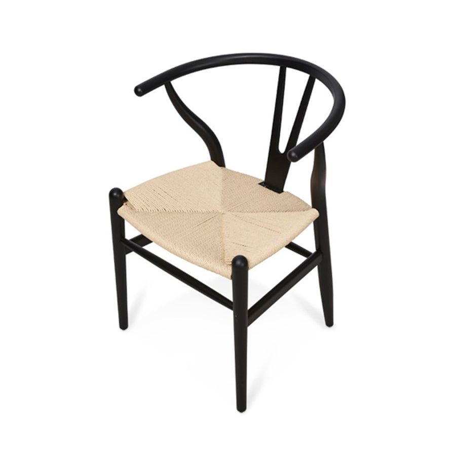 Wishbone Dining Chair Black Frame