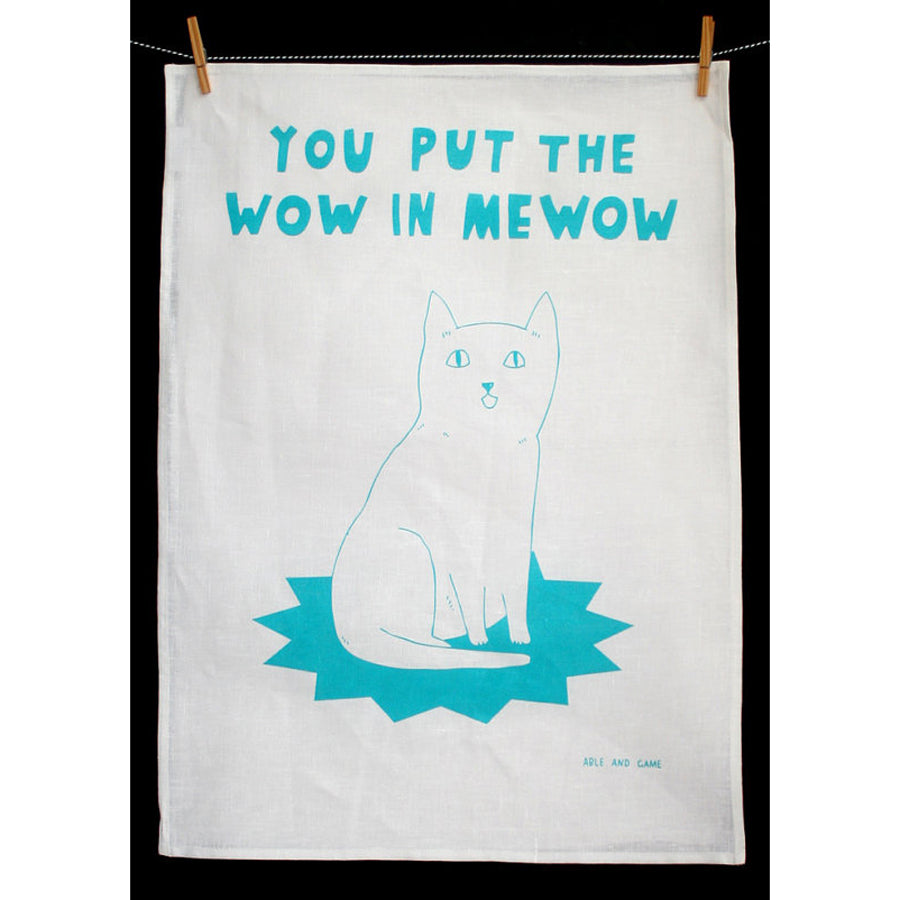 Wow In Mewow Tea Towel
