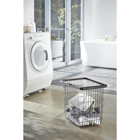 Yamazaki Tower Laundry Basket Large Black