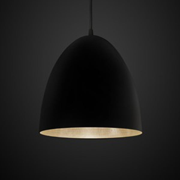 Egg Pendant Light Black / Silver