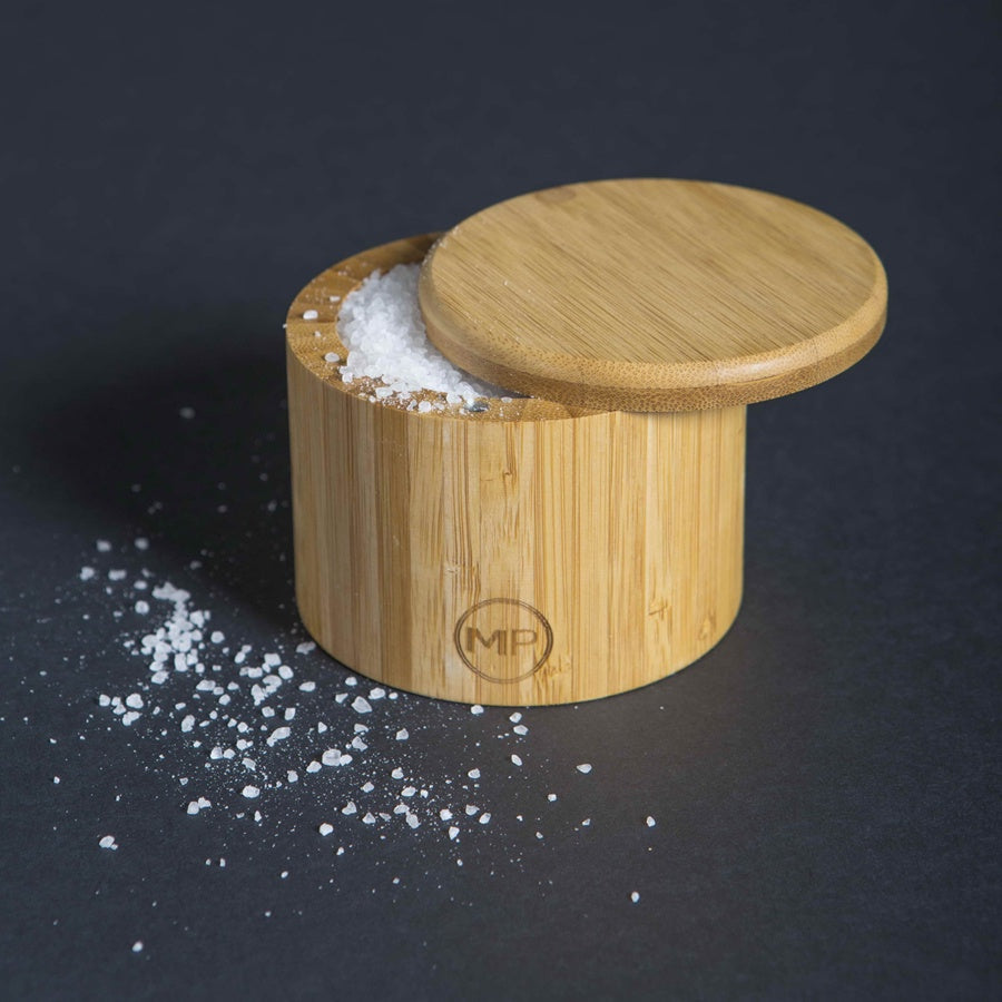 Bamboo Salt Box With Sliding Lid