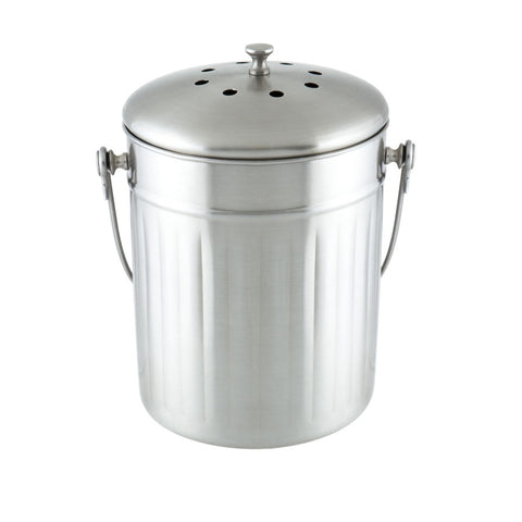 Stainless Steel Kitchen Compost Bin 5L