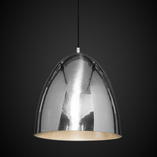 Egg Pendant Light Silver