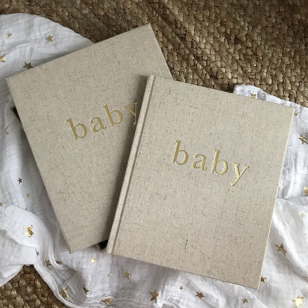 Write To Me Baby Boxed Journal Beige