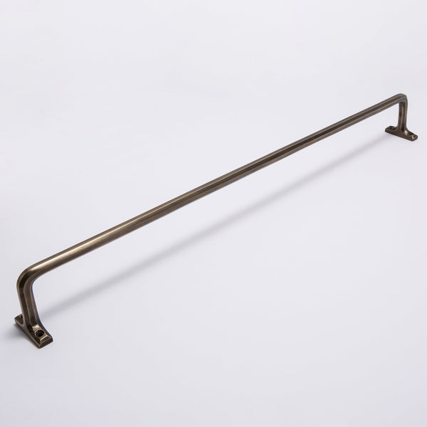 Henley Rail Acid Washed Brass 600mm
