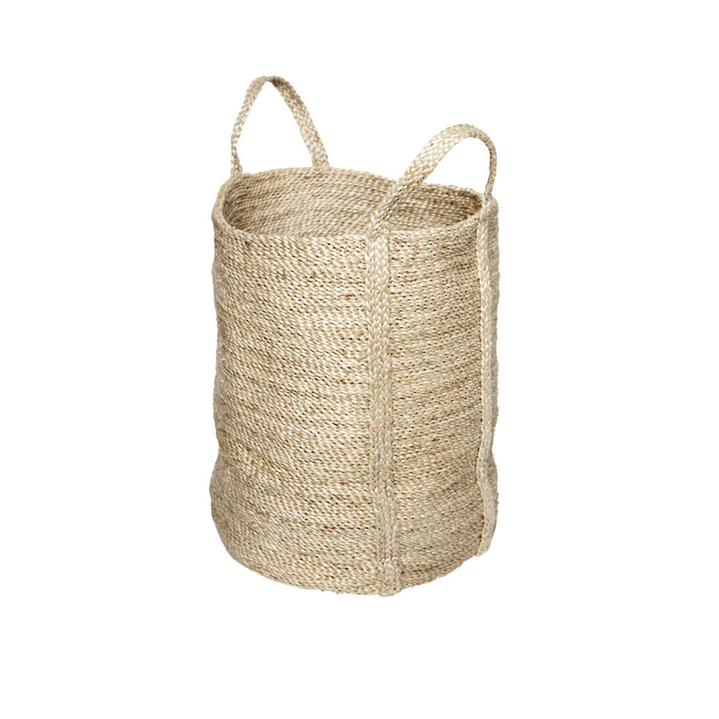 Natural Jute Laundry Basket