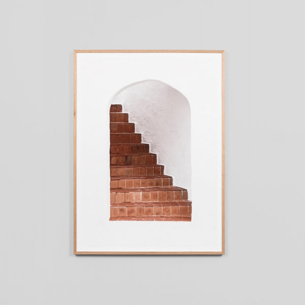 Terracotta Stairs Art Print 64cm x 79cm