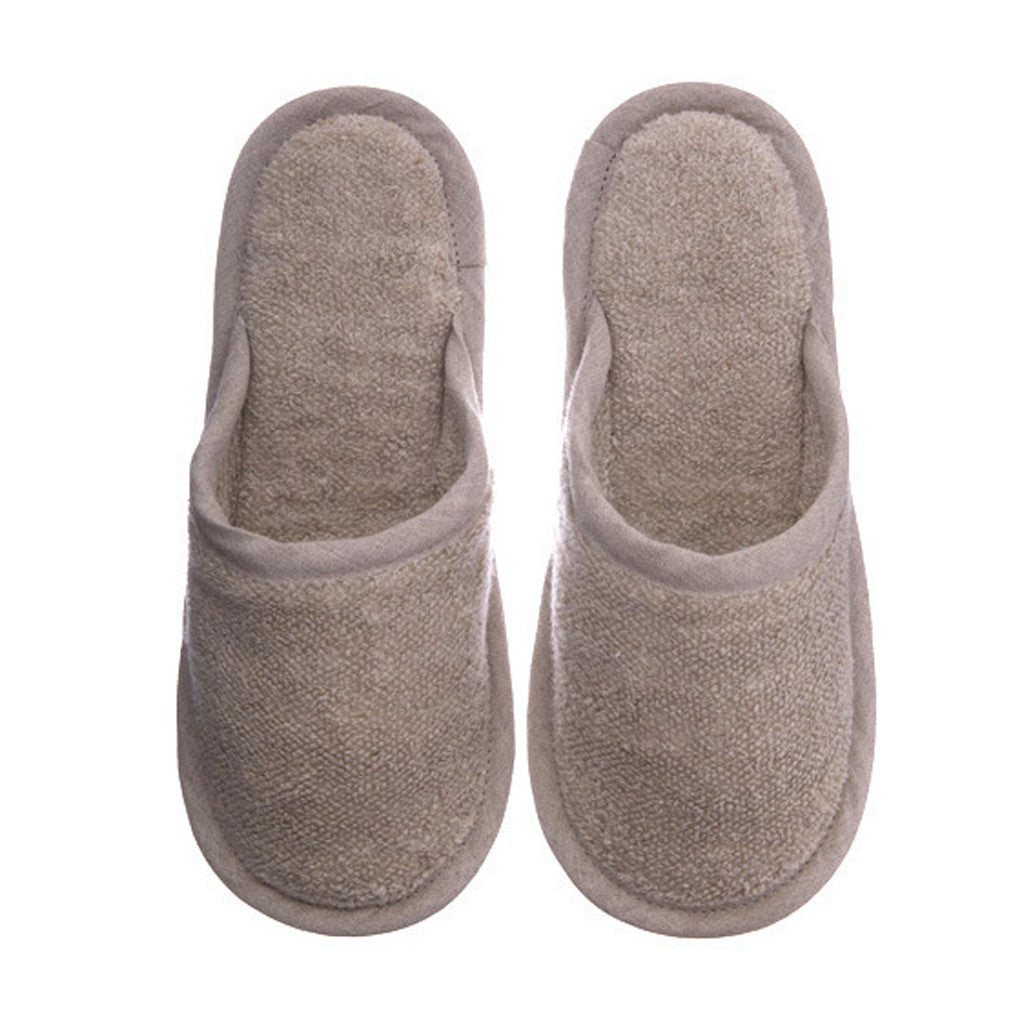 European Linen Slippers Natural
