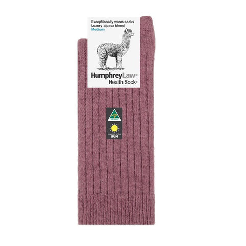 Humphrey Law Alpaca Health Socks Old Rose