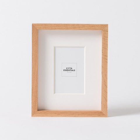 Citta Edge Photo Frame Oak 4 x 6