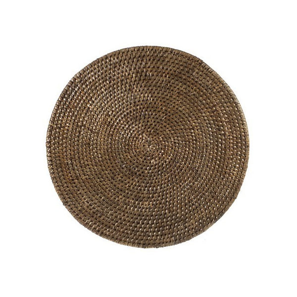 Rattan Round Placemat Brown 30cm