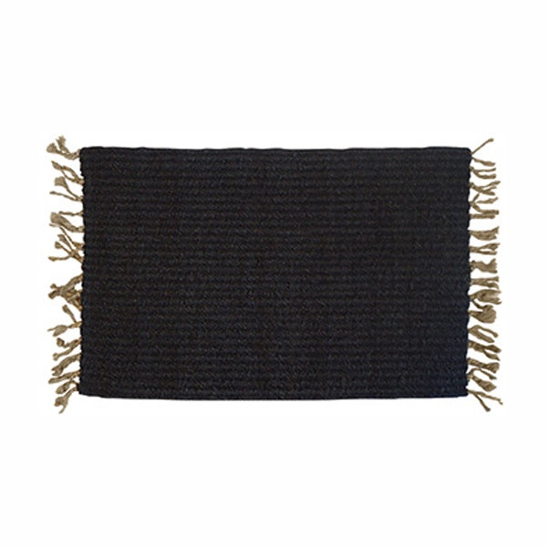 Charcoal Fringed Mat Doormat & Runner Melbourne