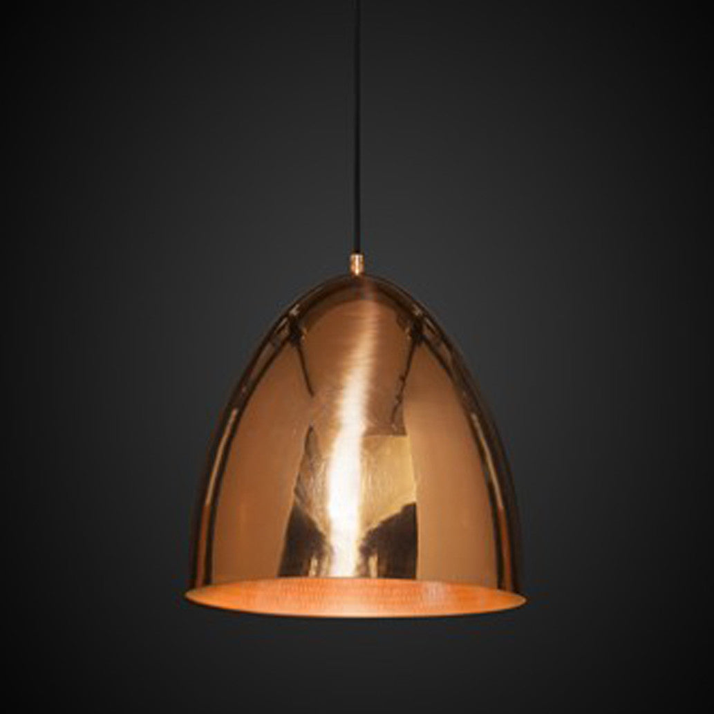 Egg Pendant Light Copper