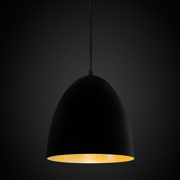 Egg Pendant Light Black / Brass