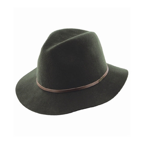 Mens Wool Fedora Rajah Cypress Green