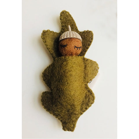 Papoose Felt Toys Acorn Baby Natural