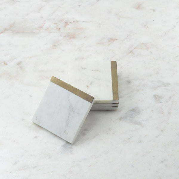 Marble Brass Coasters