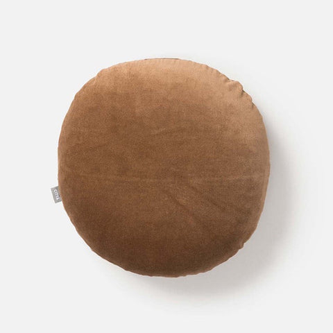Citta Cotton Velvet Round Cushion Toast 45cm
