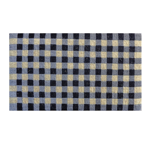 Gingham Check Doormat