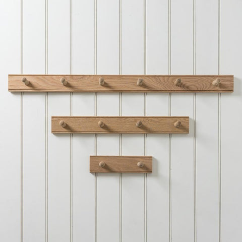 Oak Peg Rail 56cm - 4 Pegs