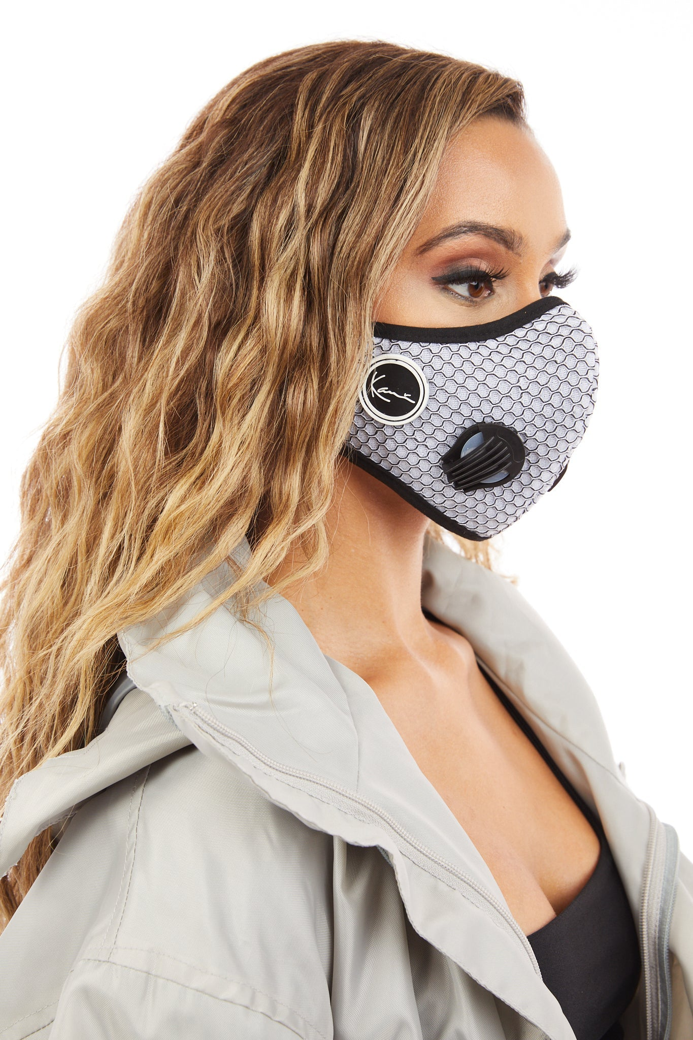 Womens Face Mask (Silver)