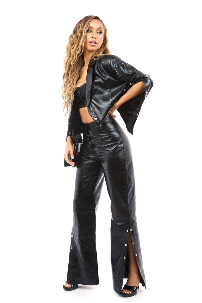 Venus Leather Pants (Black)
