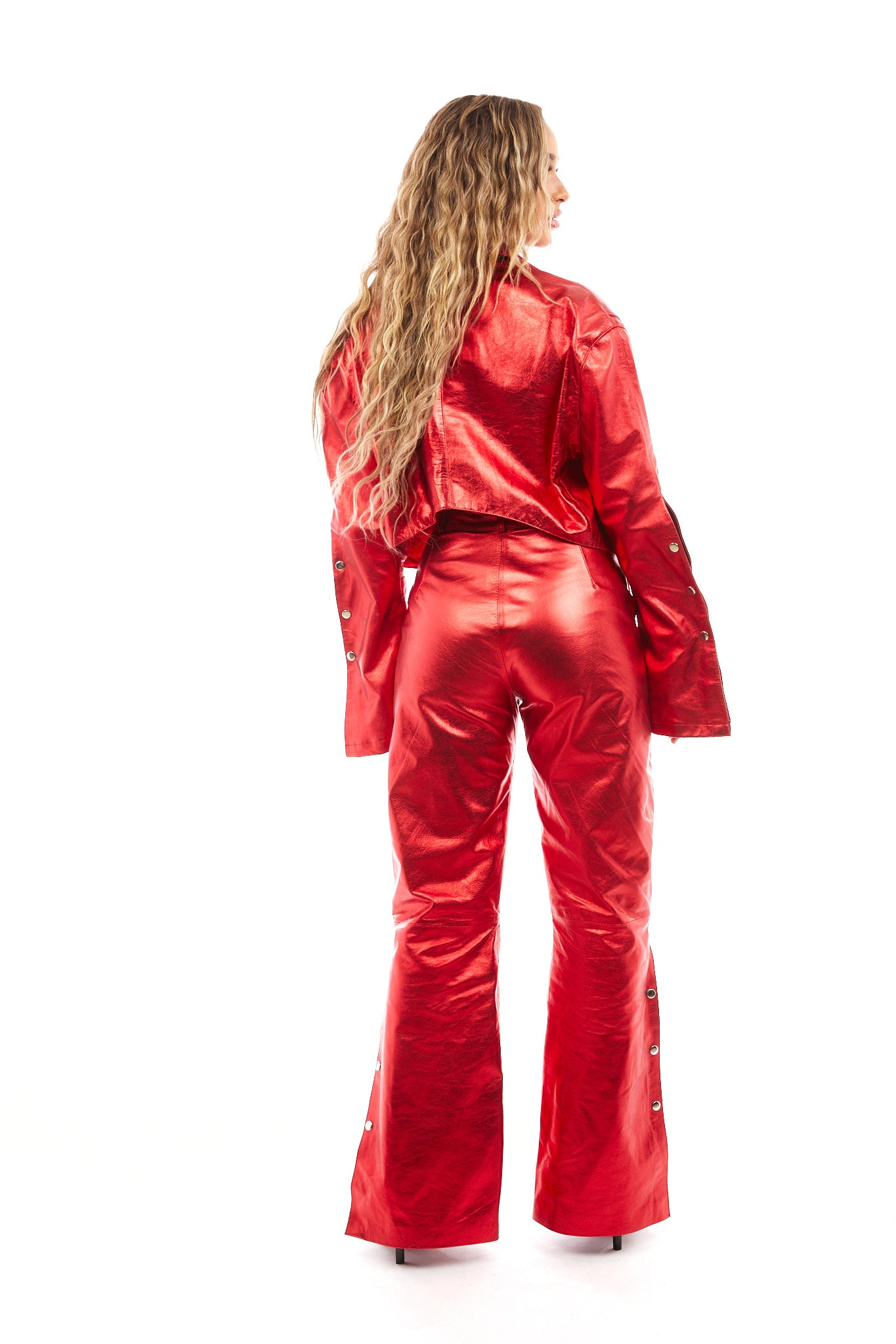 Venus Leather Pants (Red)