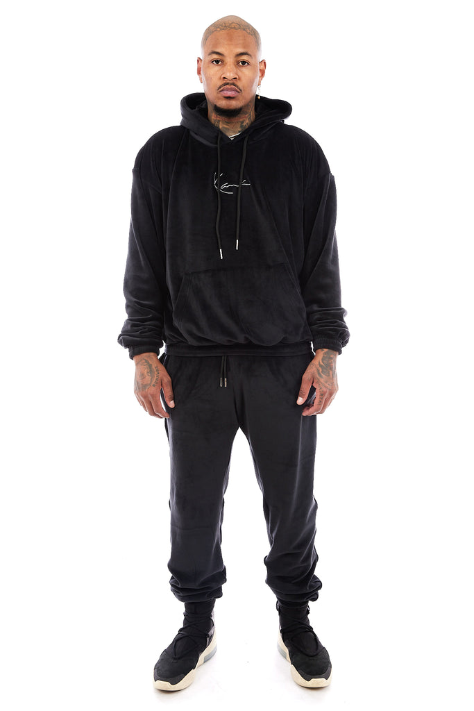 Chicago Velour Joggers (Black)