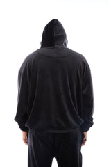 Chicago Velour Hoodie (Black)