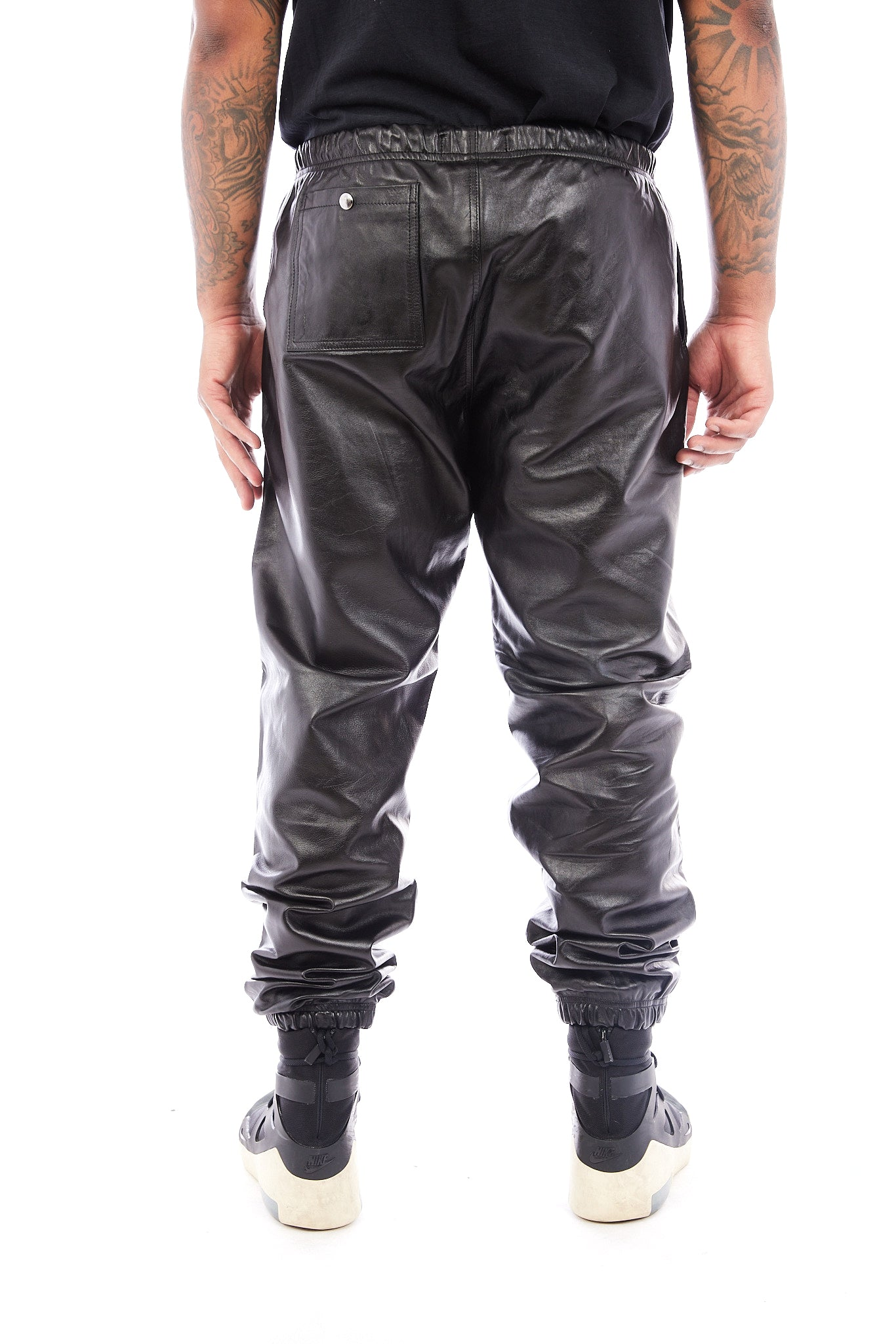 Claremont Leather Joggers