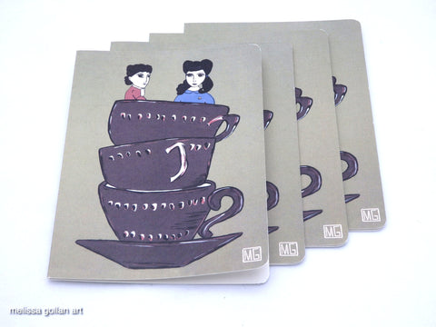 ART CARDS - 4 Pack (High Tea For Two)