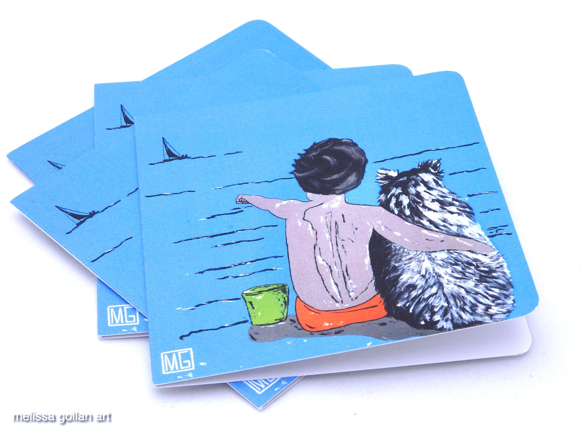 ART CARDS - 4 Pack (Ocean View)