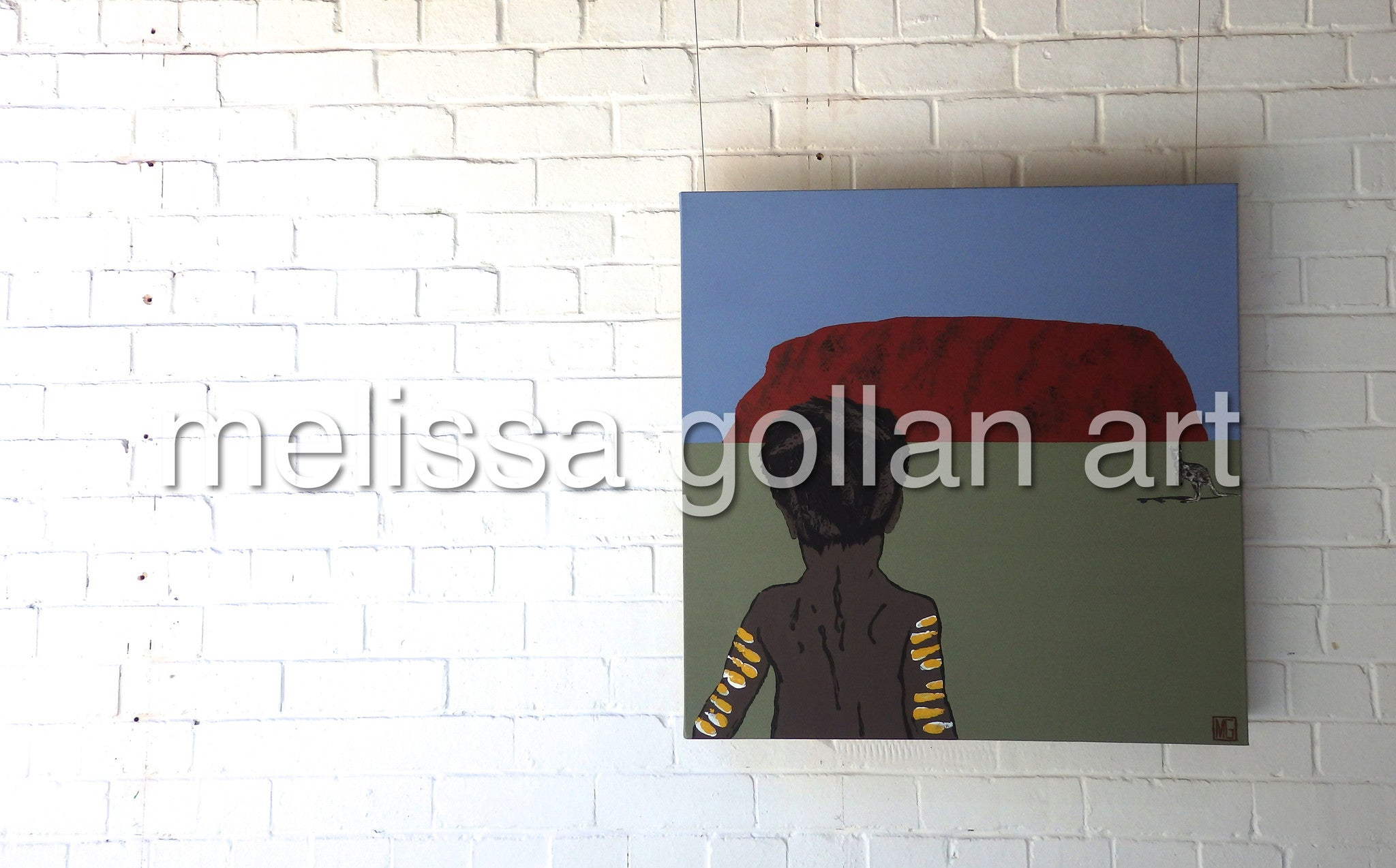 Child Near Uluru - ORIGINAL PAINTING - FOR SALE