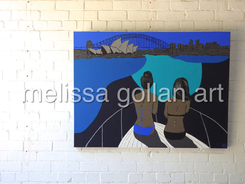 Cruising Sydney Harbour - ORIGINAL PAINTING. SOLD!