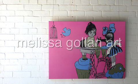 Dreaming of Cupcakes - LIMITED EDITION Giclée Prints on Canvas