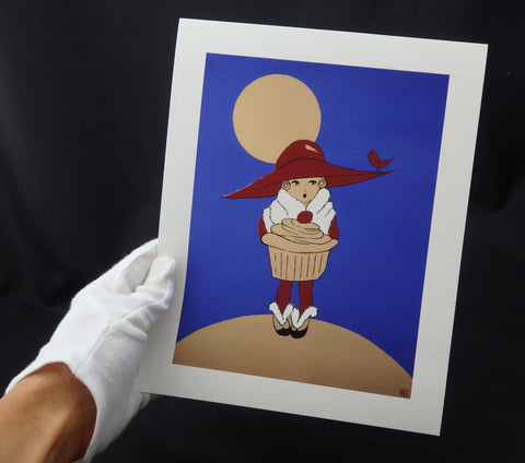 Moonlight Cupcake - Giclée Prints on Fine Art Paper