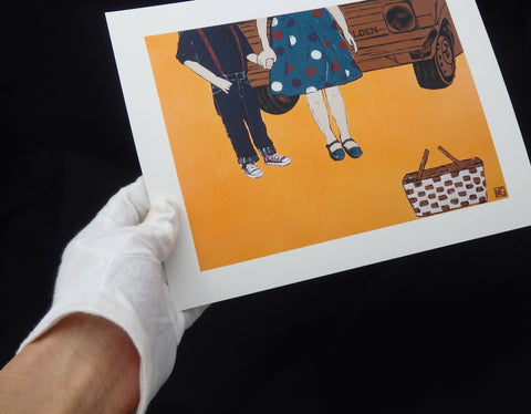 Sunday Drive - Giclée PRINT on Fine Art Paper (Hand Signed)