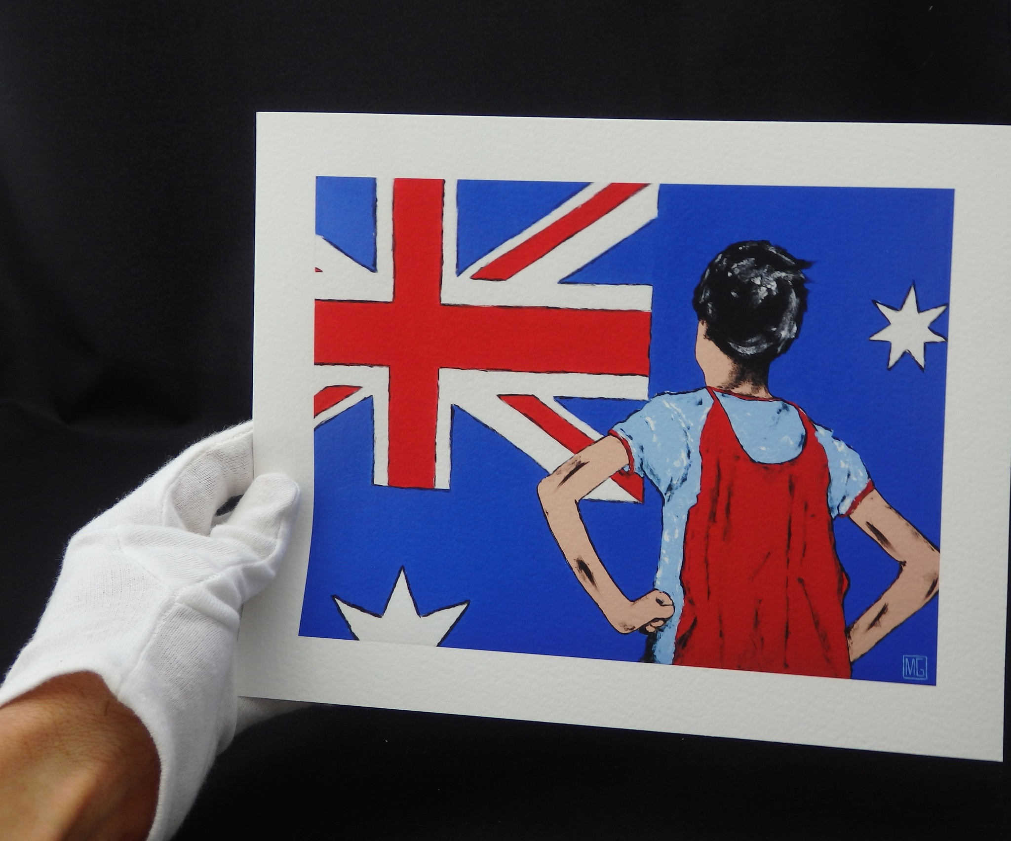 Young Australian Hero - Giclée PRINT on Fine Art Paper (Hand Signed)